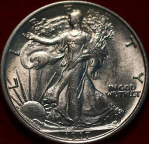 Uncirculated 1917 Philadelphia Mint Silver Walking Liberty Half