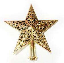 Xmas Shiny Tree Star Topper Ornament Decorations Star Gold