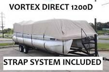 NEW VORTEX SUPER HEAVY DUTY BEIGE 1200D 18 FT ULTRA 4 PONTOON/DECK BOAT COVER