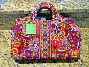 VERA BRADLEY Safari Sunset Handbag (abby) & Matching Euro Wallet