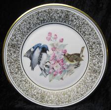 "Boehm Birds Lenox Porcelain Black-Throated Blue Warblers 10 3/4"" Plate 1980 Nos"