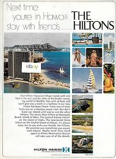 HILTON HAWAIIAN VILLAGE 1969 RAINBOW TOWER WAIKIKI STAY WITH FRIENDS AD