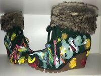 Boots STIEFEL 38 UNIQUE ethno art psy goa hippie keil patchwork unikat designer