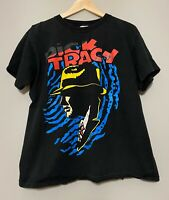 Men's Vintage 90's Dick Tracy Large Graphic Black T-shirt Size Large USA