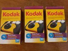 Lot of 3 Kodak Hd Power Flash Disposable Camera 39 Exposure Color Film 2009