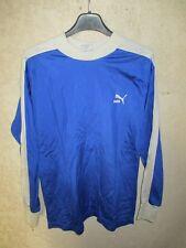 Maillot PUMA vintage porté n°6 manches longues 80's trikot shirt style BASTIA S