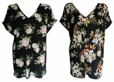 Batwing, Dolman Sleeve Floral Plus Size Tops & Blouses for Women