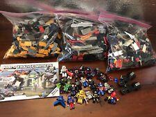 Hasbro Kre-o Transformers Huge Lot Bumblebee Optimus Prime Megatron Rare Sets