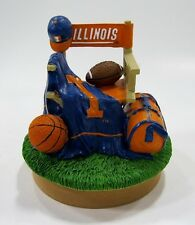 Illinois University - Ceramic College Mascot Candle Topper by Talegaters