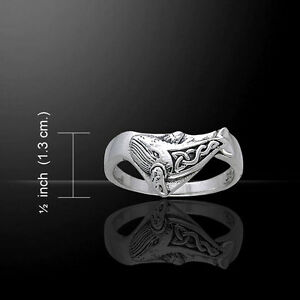 Celtic Whale .925 Sterling Silver Ring by Peter Stone