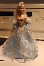 Beautiful Cinderella Barbie Doll with Faux Glass Slipper Shoes Beautiful Dress