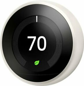Google - Nest Learning Smart Wifi Thermostat - White - Factory Sealed!