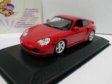 """Maxichamps 940069300-Porsche 911 (996) Turbo año de fabricación 1999 en """"rojo"""" 1:43 nuevo"""
