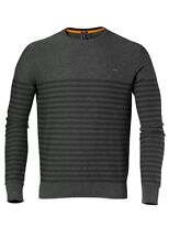 O'NEILL - Mens Grey 100% Cotton Stringer Striped Pullover Jumper Small S BNWT