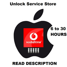 Vodafone UK iPhone Unlock Service 4,4s,5,5s,6,6+,6s,6s+,7,7+ (See description )