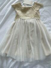 BNWT Girls Monsoon Gold Estella Lace Occasion Bridesmaid Dress Age 18-24 months