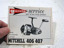 Garcia Mitchell 406 407 REEL Original Service foldout SCHEMATIC FRANCE GOOD USED