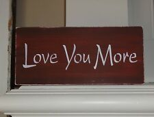 Valentine's Day Anniversary Wedding Love You More Wooden Sign Decoration Gift