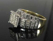 ZEI 1.5CT DIAMOND engagement promise ring 14K Yellow White Gold Size 7 < Video>