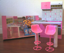 GLORIA DOLL HOUSE FURNITURE SIZE KITCHEN w/Island+Bar Stools PLAYSET FOR DOLLS