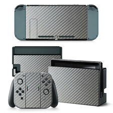Silver Carbon - Nintendo Switch Protective Skin 4 Pc Sticker Set