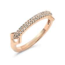 18K Rose White Or Yellow Gold Pave Diamond Band Right Hand Band Ring