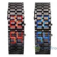 Volcanic Lava Iron Samurai Metal Faceless Bracelet Fashion LED Metal Wrist Watch