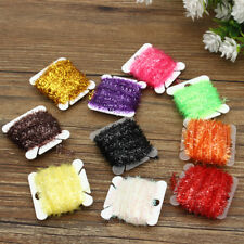 100M 10 Color Fishing Chenille Tinsel Crystal Flash Line Fly Tying Materials