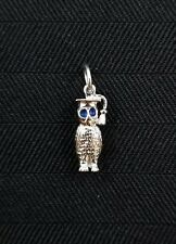 "Sterling Silver ""Owl"" Pendant- Gently Used - C68A"