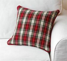 "Audrey's. Holiday, Decorative Pillow, TARTAN PILLOW, 16"" x 16"""