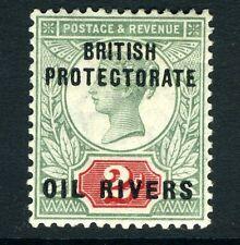 OIL RIVERS-1892-94 2d Grey-Green & Carmine Sg 3 AVERAGE MOUNTED MINT V13597