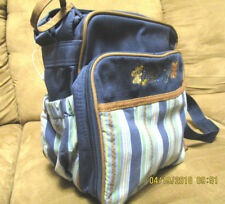 Carter's  baby tote in blue,brown/light blue