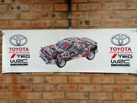 Toyota Celica GT4 ST185  trd wrc castrol large pvc  WORK SHOP BANNER garage