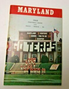 1968 MARYLAND UNIVERSITY FOOTBALL MEDIA GUIDE RECORD BOOK RARE NCAA FOOTBALL
