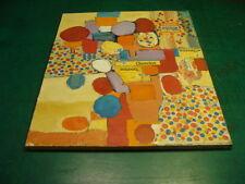 Original Abstract collage Art: w Cheerios box parts & Wonder Bread, 1960's