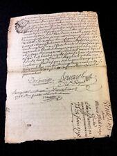 ANTIQUE MANUSCRIPT 1792