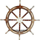 Anchor Big Ship Steering Wheel Wooden 36 Inch Antique Style Nautical Pirate Ship
