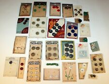 New listing Vintage Buttons Assorted carded and loose Lot of Buttons 1950-60