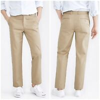 J.Crew Mens The Bleecker Chino Pants Athletic Fit Broken In Flat Khaki Sz 31x31