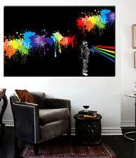 Spray Can Street art on canvas - Large 36 x 22 Giclee Print Bansy. Mr. Brainwash