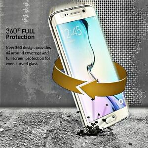360 Degree Full Body Front&Back Clear TPU Soft Rubber Case  For Samsung S9 S10