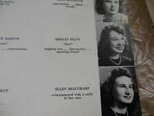 SHIRLEY MacLAINE/ORIGINAL 1952 WASHINGTON-LEE HIGH SCHOOL YEARBOOK/ARLINGTON, VA