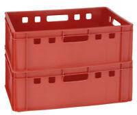 2 Kisten für Transport Catering Aufbewahrung Farbe Rot Größe E2 Gastlando
