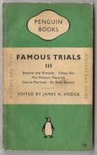 FAMOUS TRIALS 3~Vintage Penguin PB #787~Morrison~Ruxton etc Crimes~1950 UK 1st