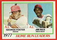 1978 Topps #202 George Foster EX-EXMINT Jim Rice Boston Red Sox HOF FREE SHIP