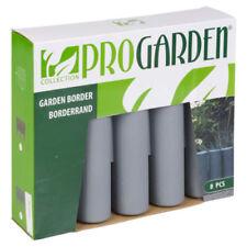 Bordes de jardín grises
