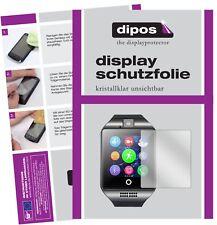 6x InterActive SmartWatch Q18 Schutzfolie klar Displayschutzfolie Folie Display