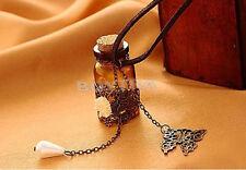 Universal  Wizard Bottles Wishing Letter Butterfly Flower Pendant Necklace Fad.