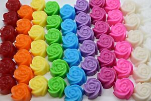 50 x Mini Rose Soaps - Wedding Favours Guest Thank you gifts - OB