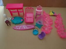 Dolls accessories some Simba cot highchair etc     (P165)